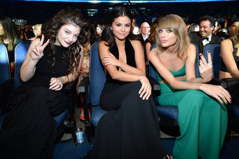 Selena Gomez and Taylor Swift attend the 2014 American Music Awards at Nokia Theatre L.A.