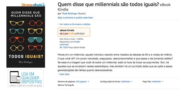 """""""Quem disse que millennials são todos iguais"""" na Amazon.com.br"""