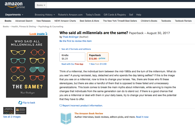 """Who said all millennials are the same?"" na Amazon.com"